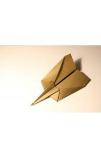 """Оригами. Самолет из бумаги """"Стилет"""""""