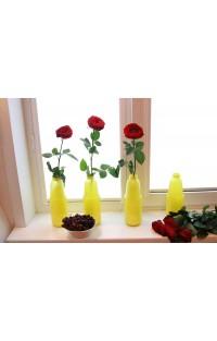 Ваза для цветов из банки от сока