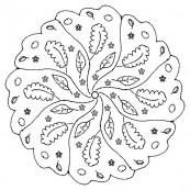 Осенние круглые раскраски