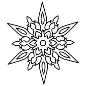 Снежинки-мандала