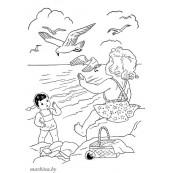 Летние раскраски