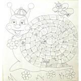 Летняя мега раскраска-календарь «Улитка»