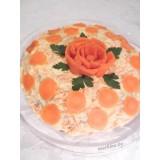Блинный торт с печенью и маскарпоне
