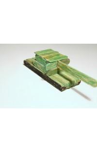 Танк ИС-2 из палочек от мороженого
