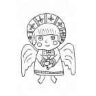 Раскраска Ангелы-малыши